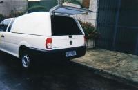 Capota de fibra Fechada para VW saveiro G.4, pintura na cor original do veiculo, dois amortecedores, iluminação interna, um ano de garantia.